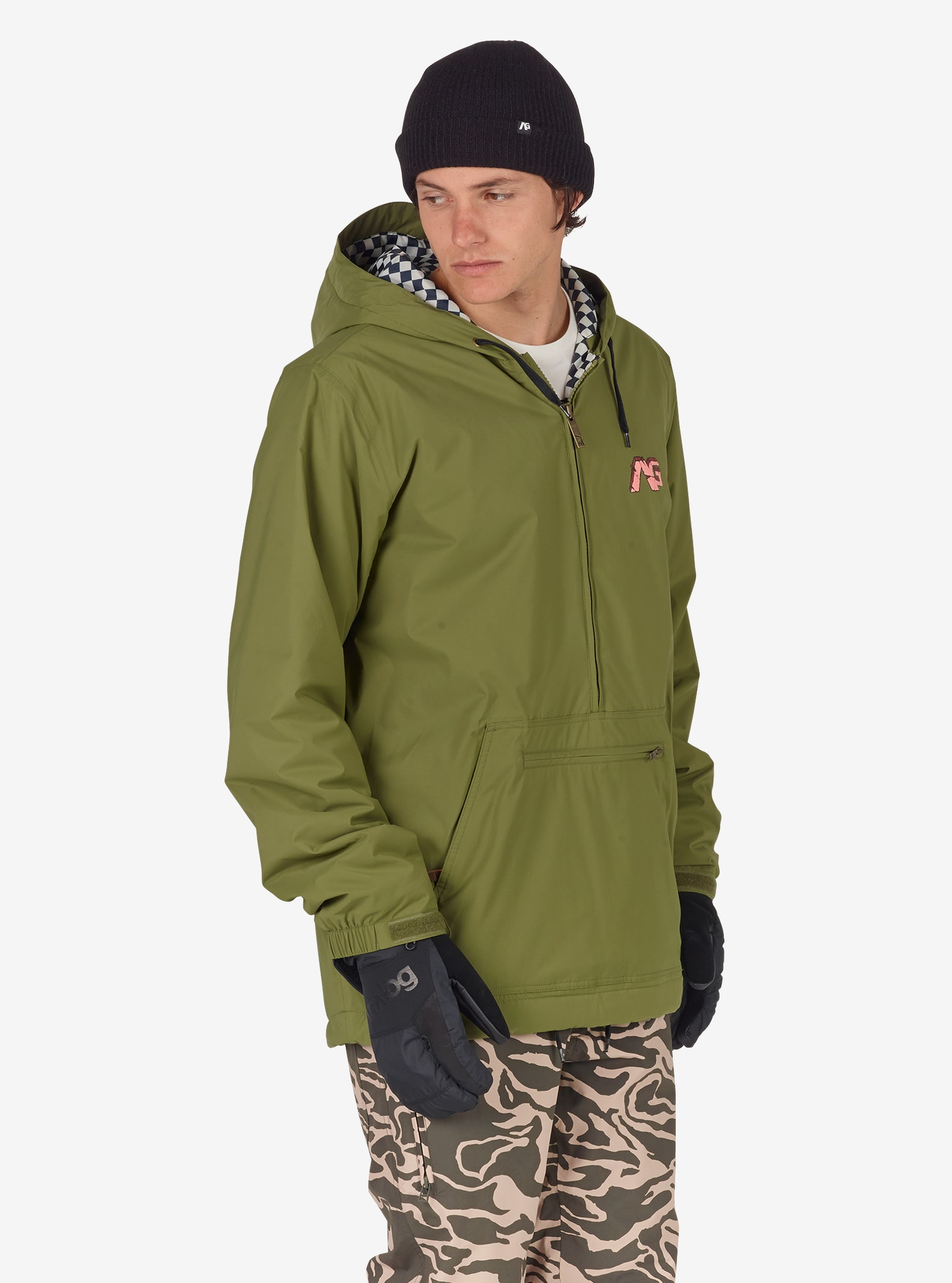 Men's Analog Caldwell Anorak shown in Olive Branch