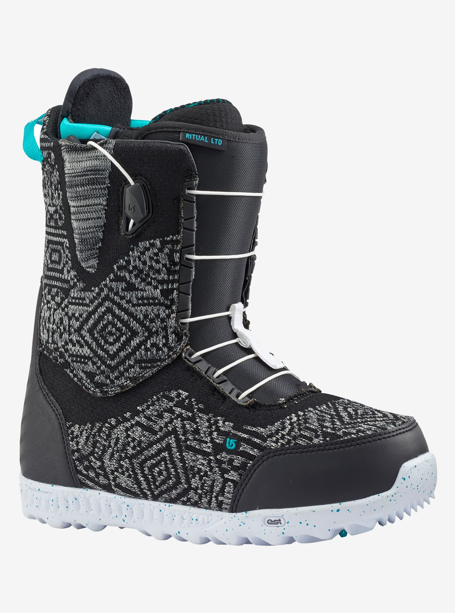 Women's Burton Ritual LTD Snowboard Boot shown in Black / Multi