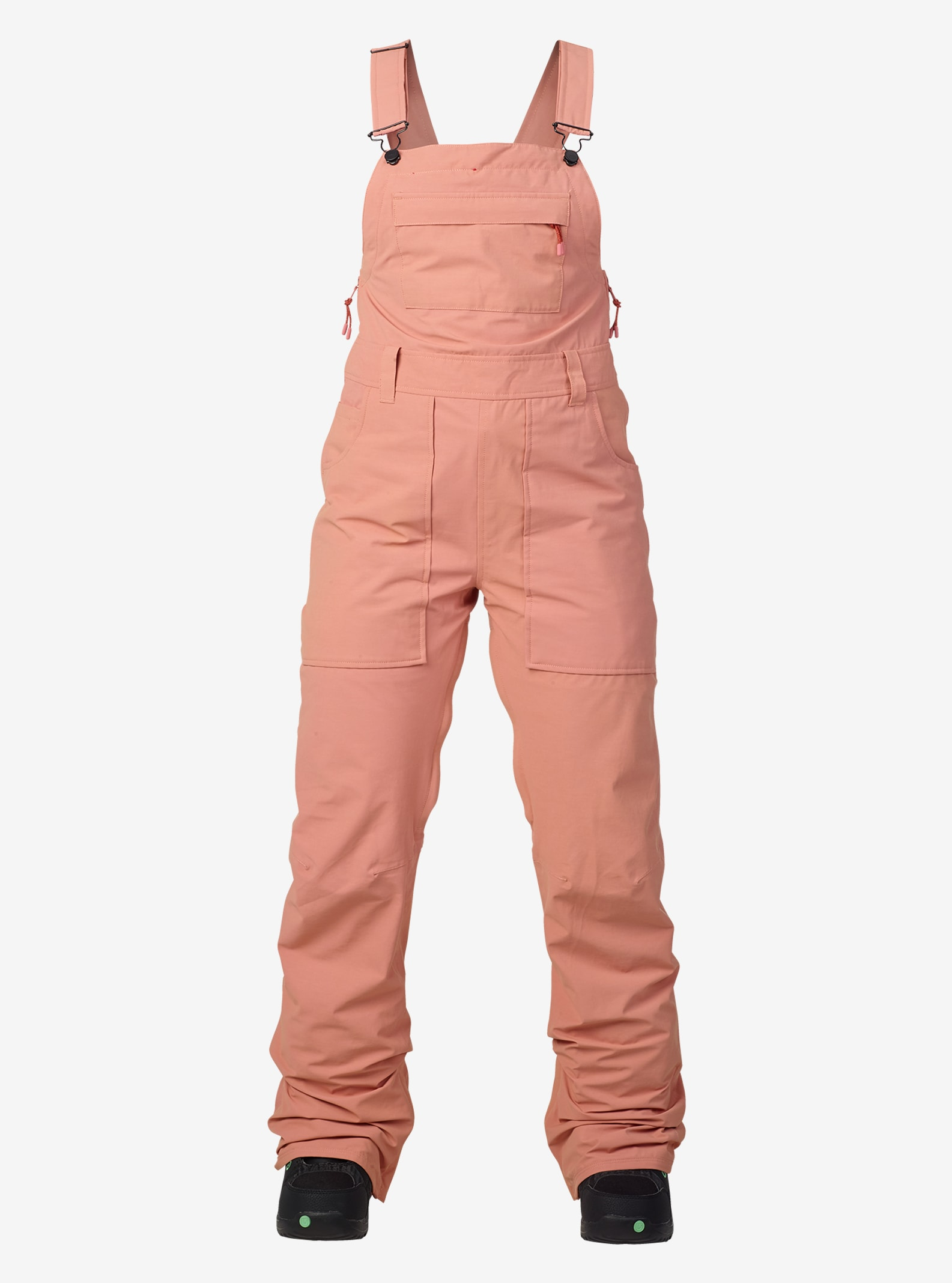 Women's Burton Avalon Bib Pant shown in Dusty Rose Washed