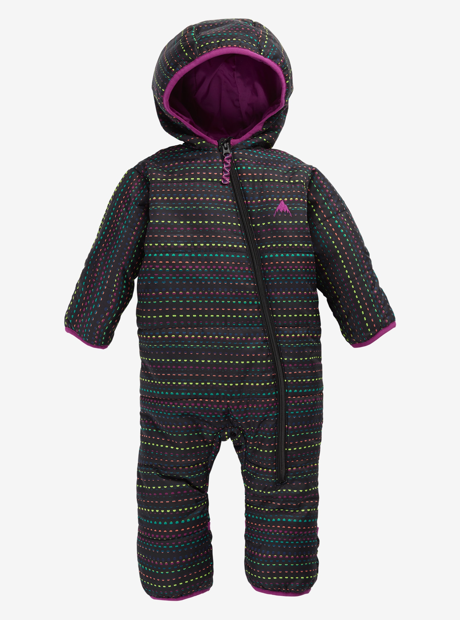 Kids' Minishred Infant Buddy Bunting Suit shown in Candy Dots