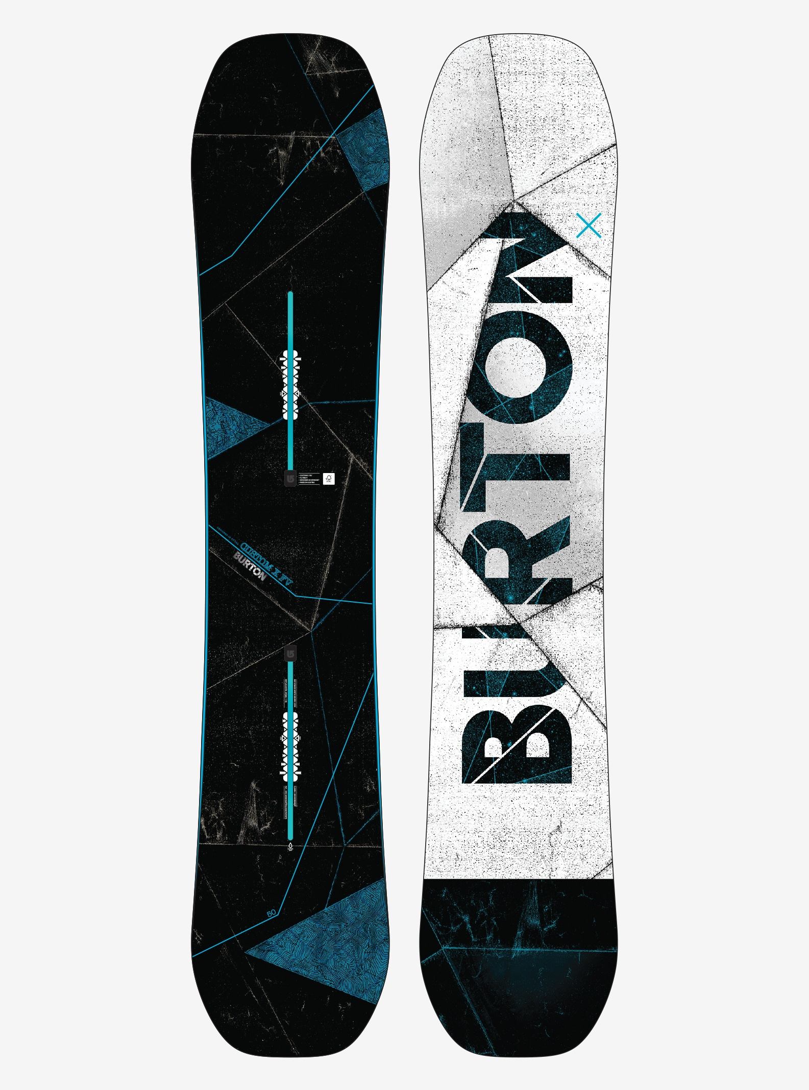 Men's Burton Custom X Flying V Snowboard shown in 150
