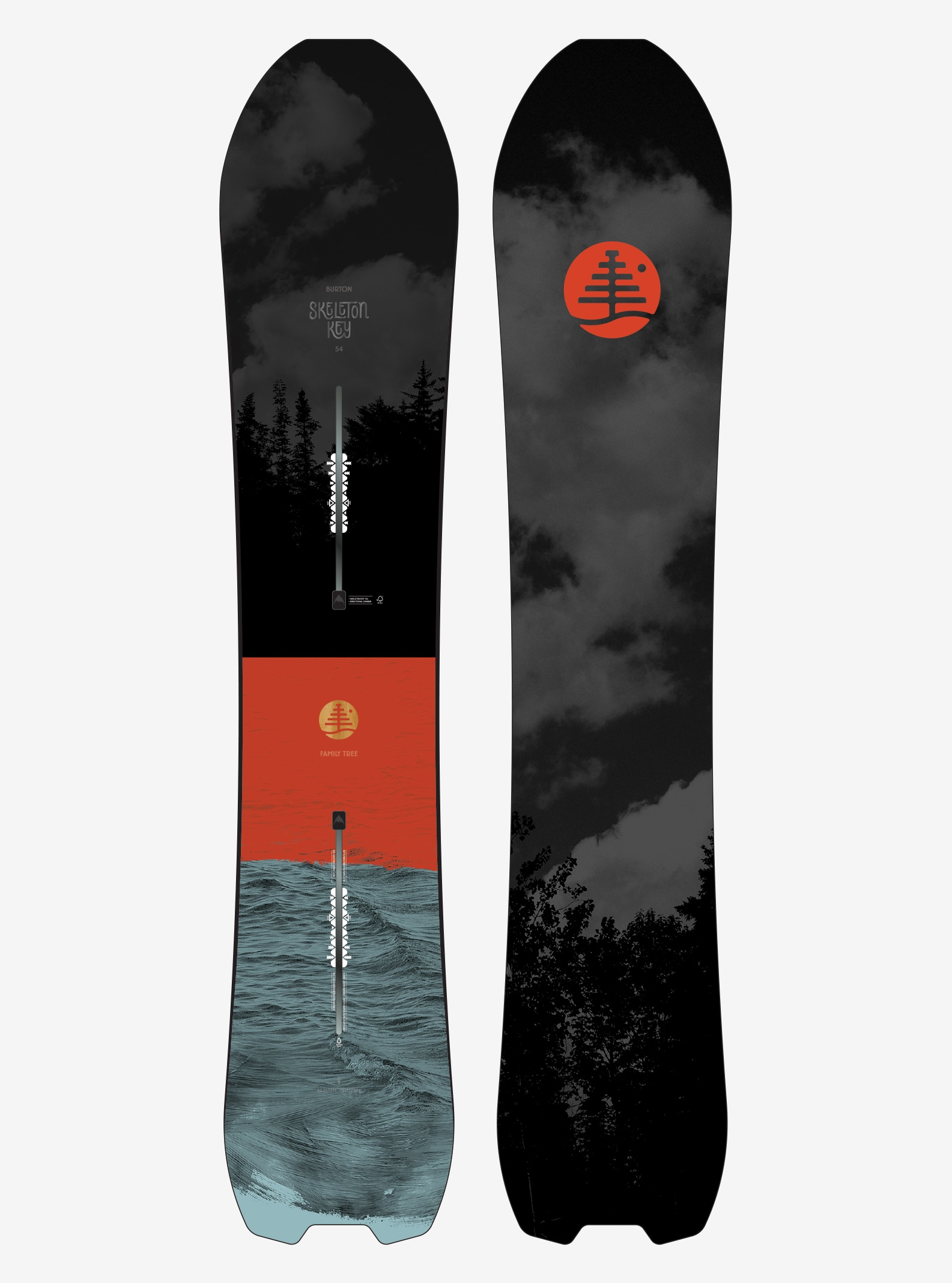 Men's Burton Family Tree Skeleton Key Snowboard shown in 154
