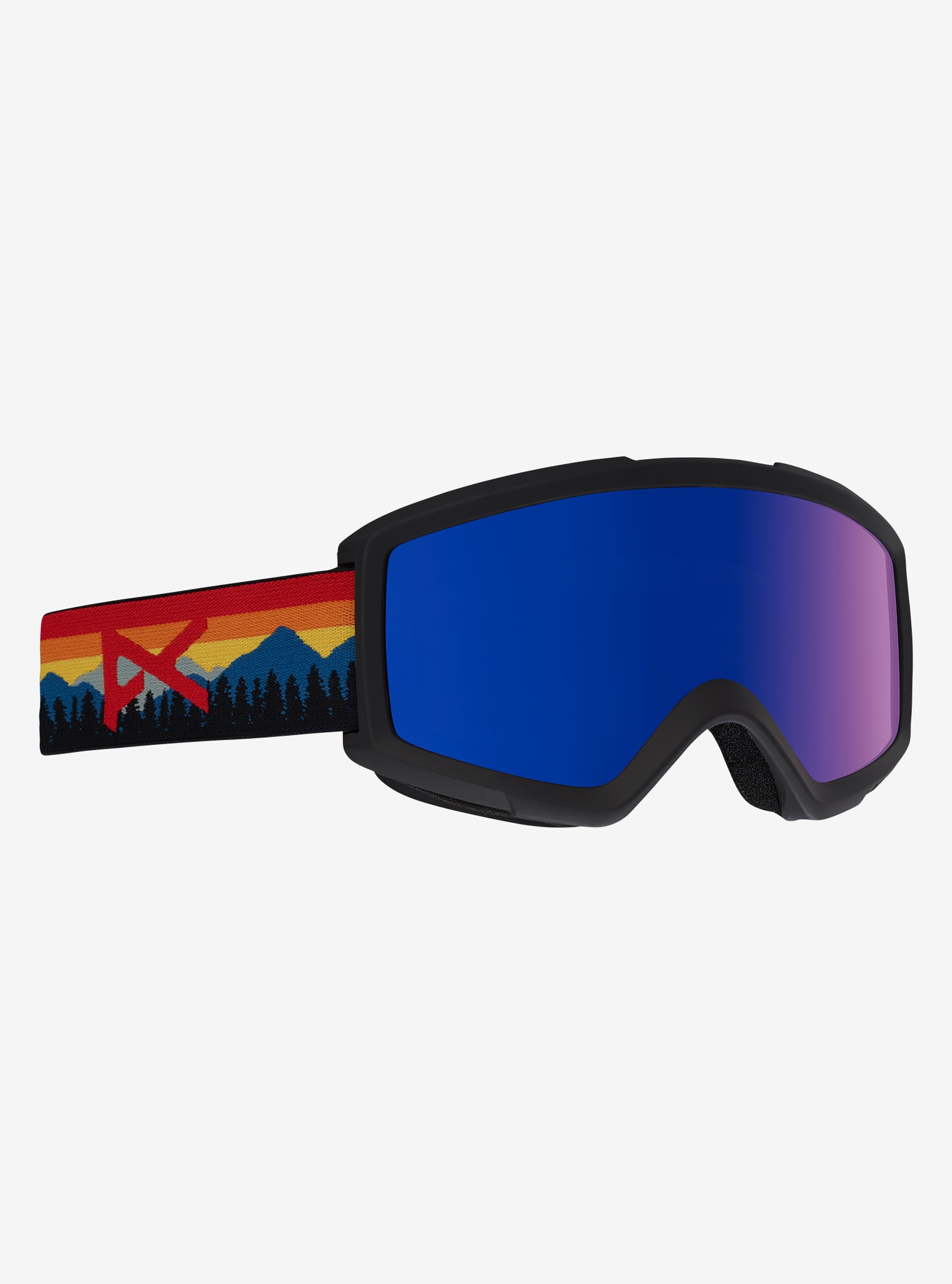 Men's Anon Helix 2.0 Goggle shown in Frame: Range Orange, Lens: Blue Cobalt, Spare Lens: Amber