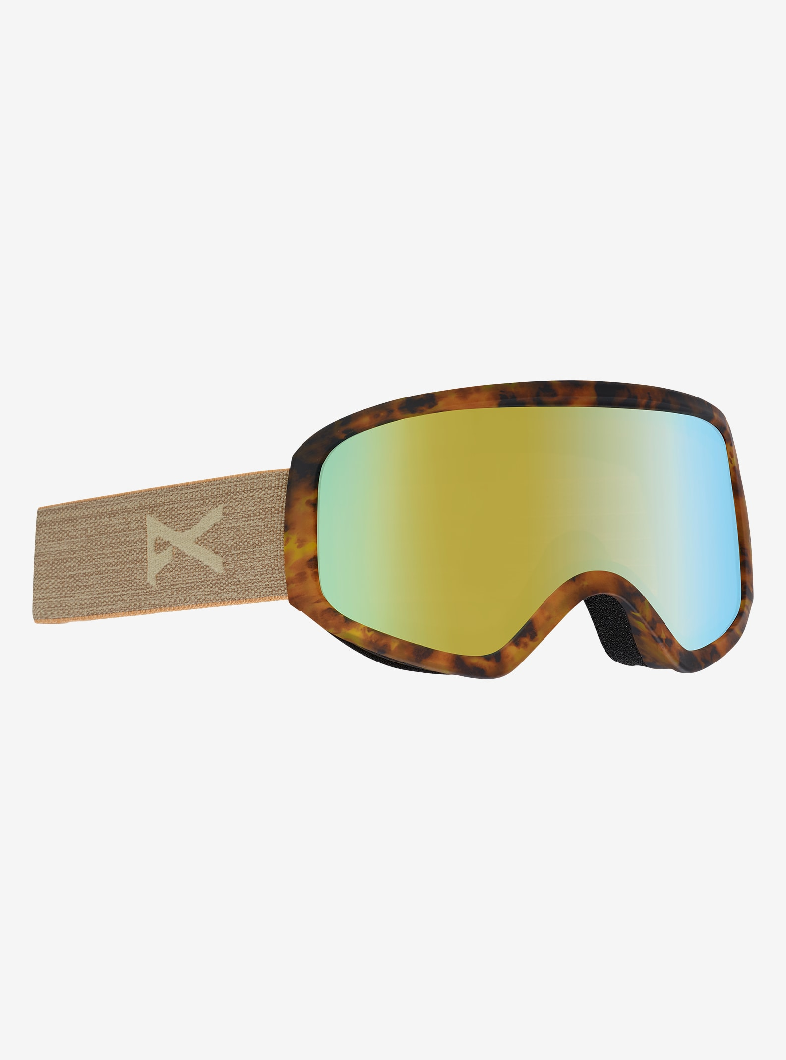 Women's Anon Insight Goggle shown in Frame: Tort, Lens: Gold Chrome