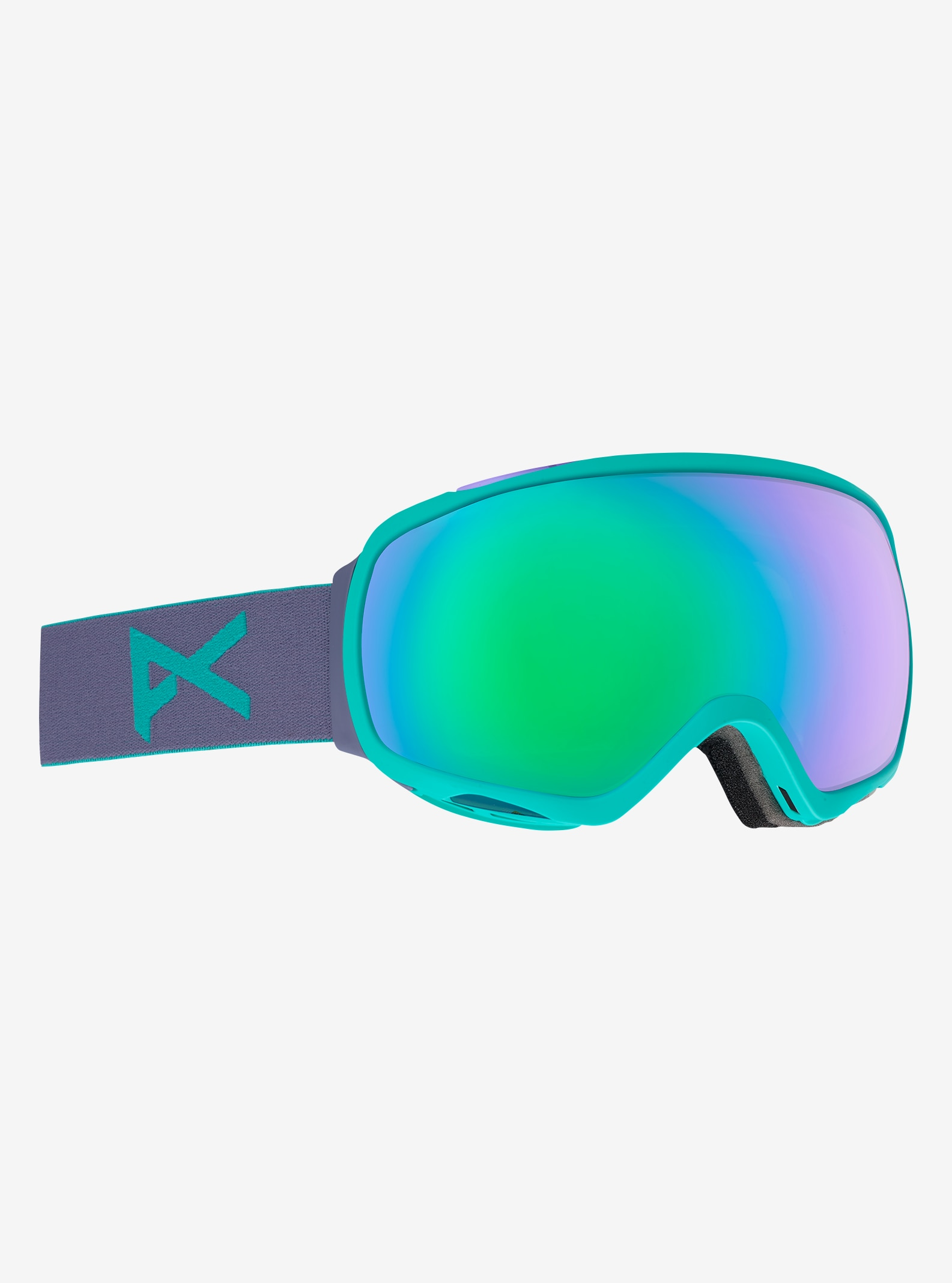 Women's Anon Tempest Goggle shown in Frame: Gala Purple, Lens: Green Solex