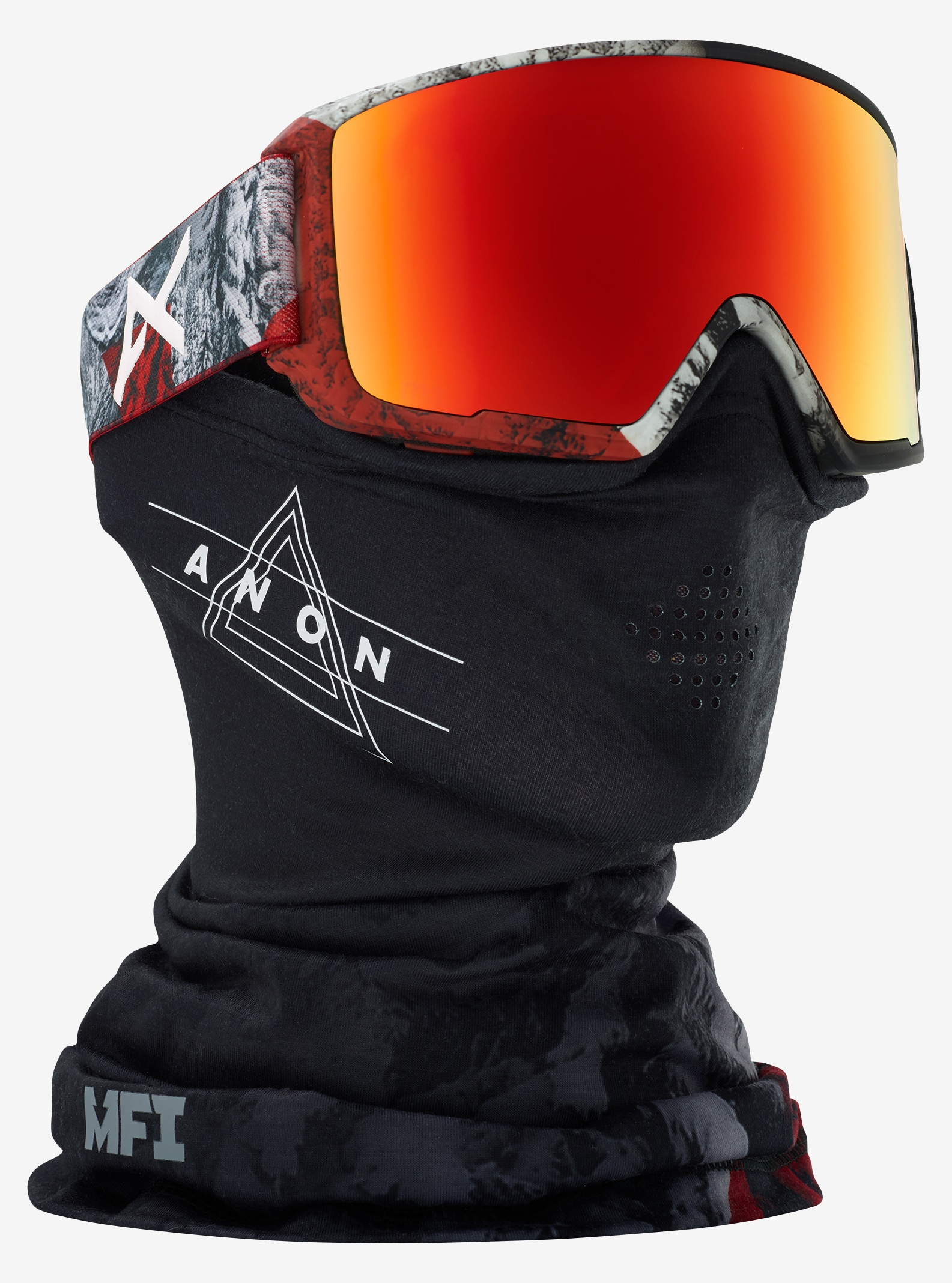 Men's Anon M3 Goggle shown in Frame: Red Planet, Lens: SONAR Red by Zeiss, +FM