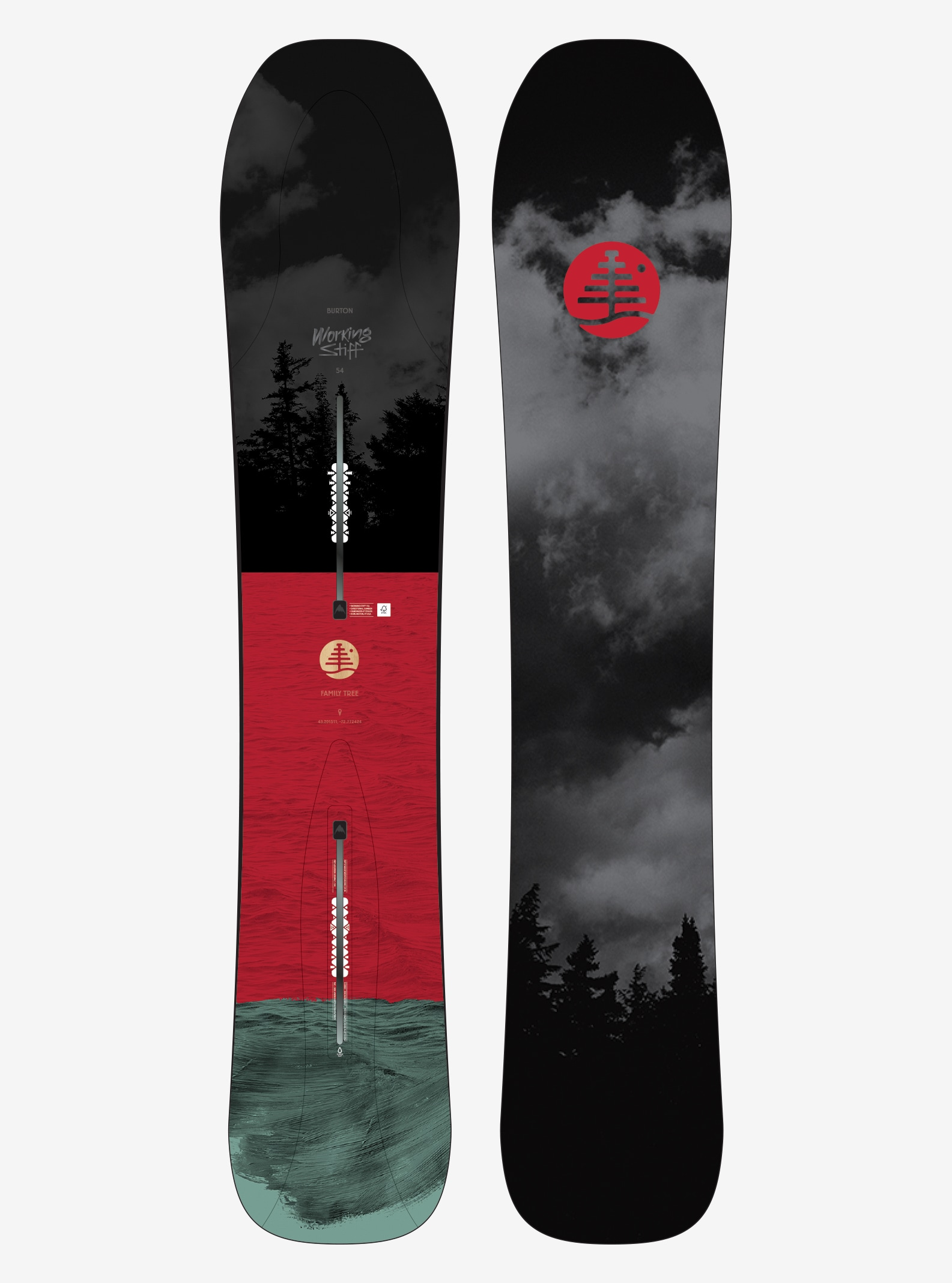 Men's Burton Family Tree Working Stiff Snowboard shown in 154