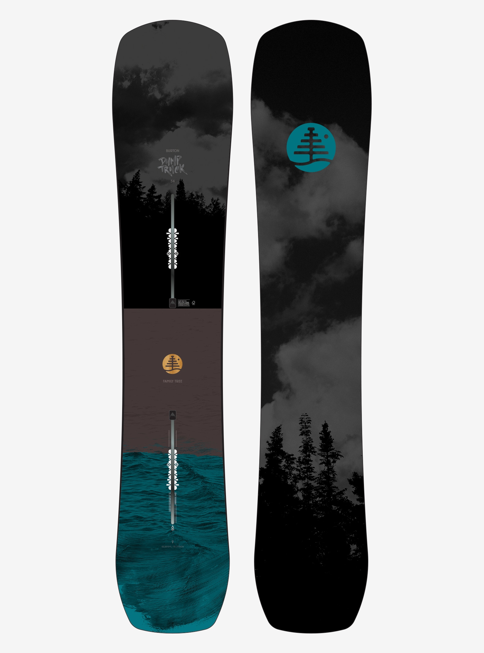 Men's Burton Family Tree Dump Truck Snowboard shown in 154