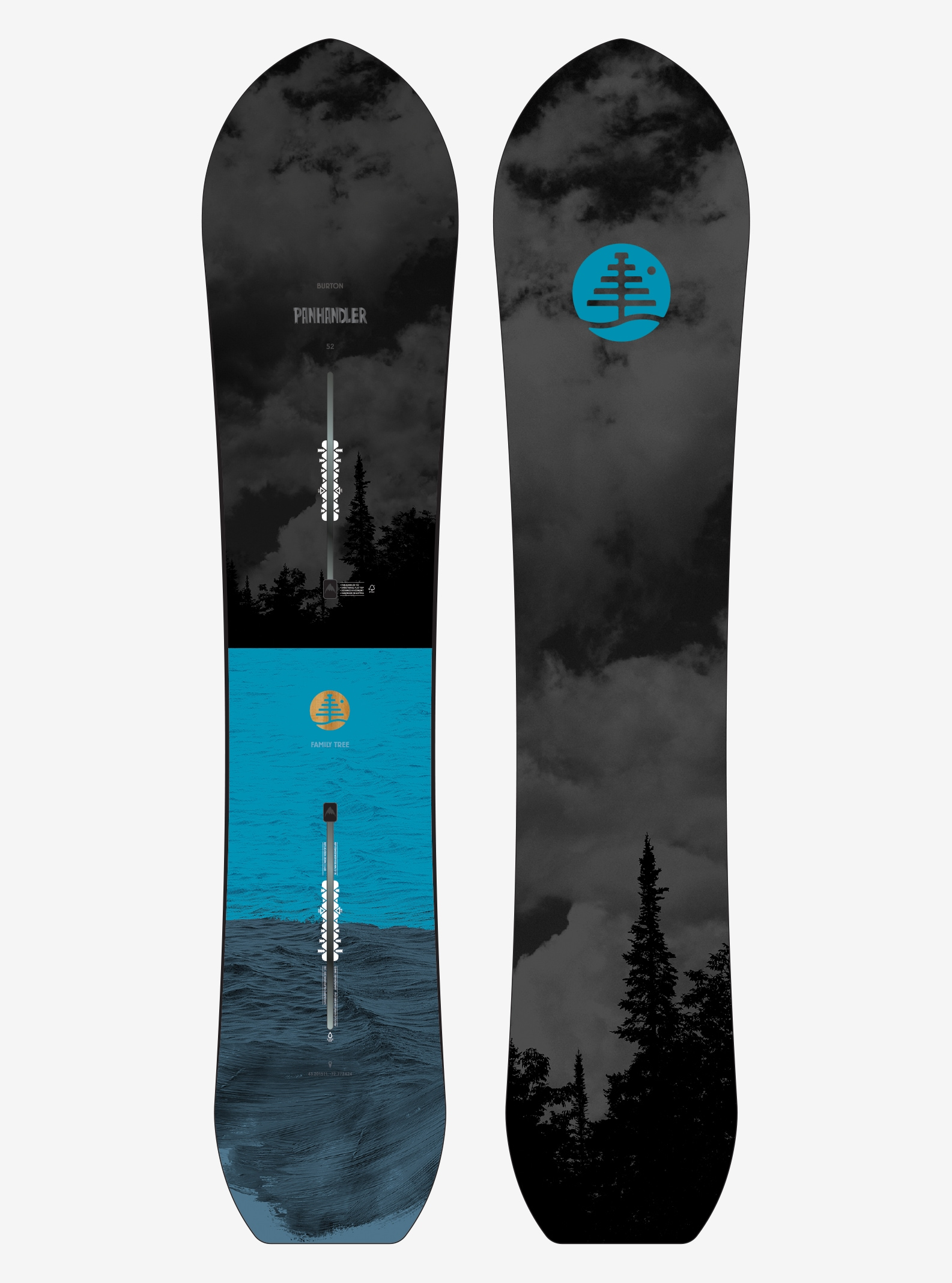 Men's Burton Family Tree Panhandler Snowboard shown in 152
