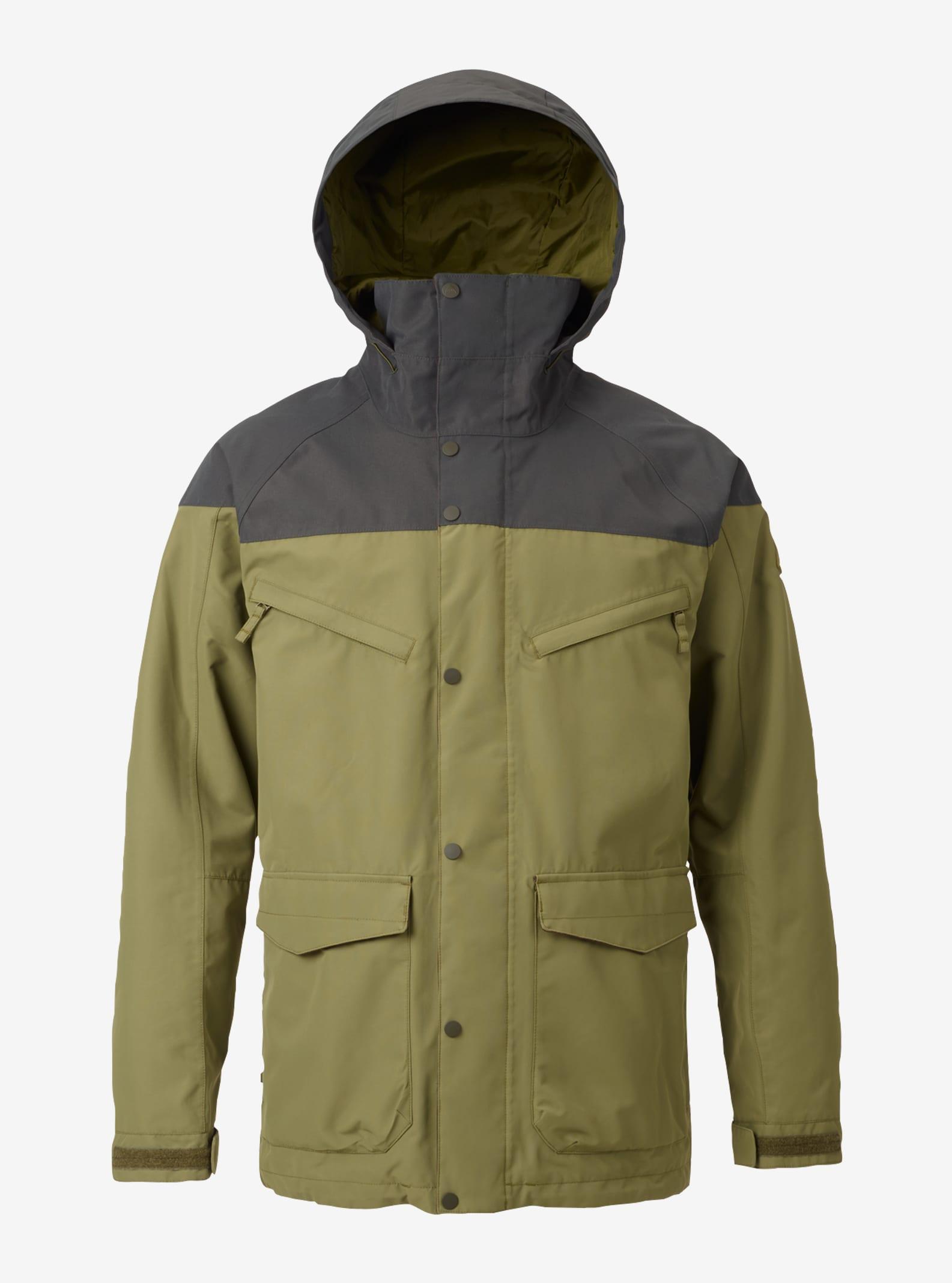 Men's Burton Breach Shell Jacket shown in Forest Night / Olive Branch