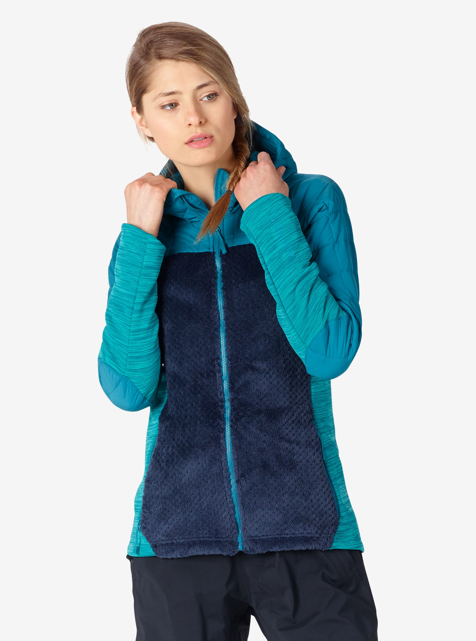 Women's Burton [ak] Zulu Insulator shown in Harbor / Mood Indigo / Spectra