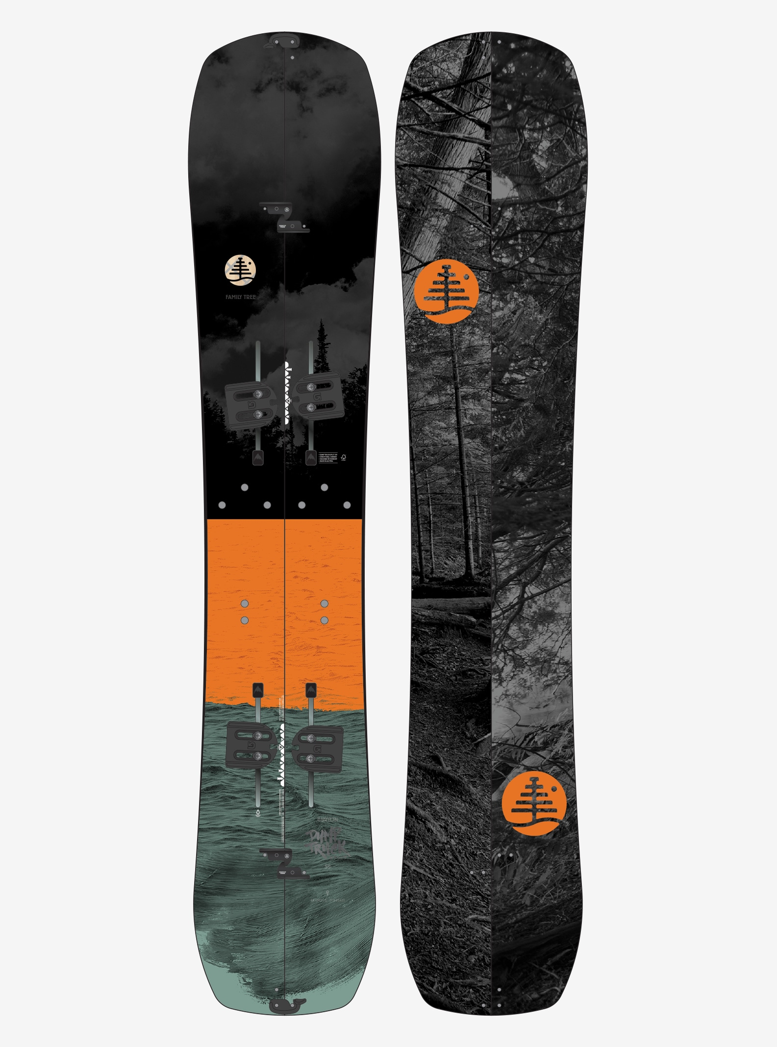 Men's Burton Family Tree Dump Truck Split Snowboard shown in 159