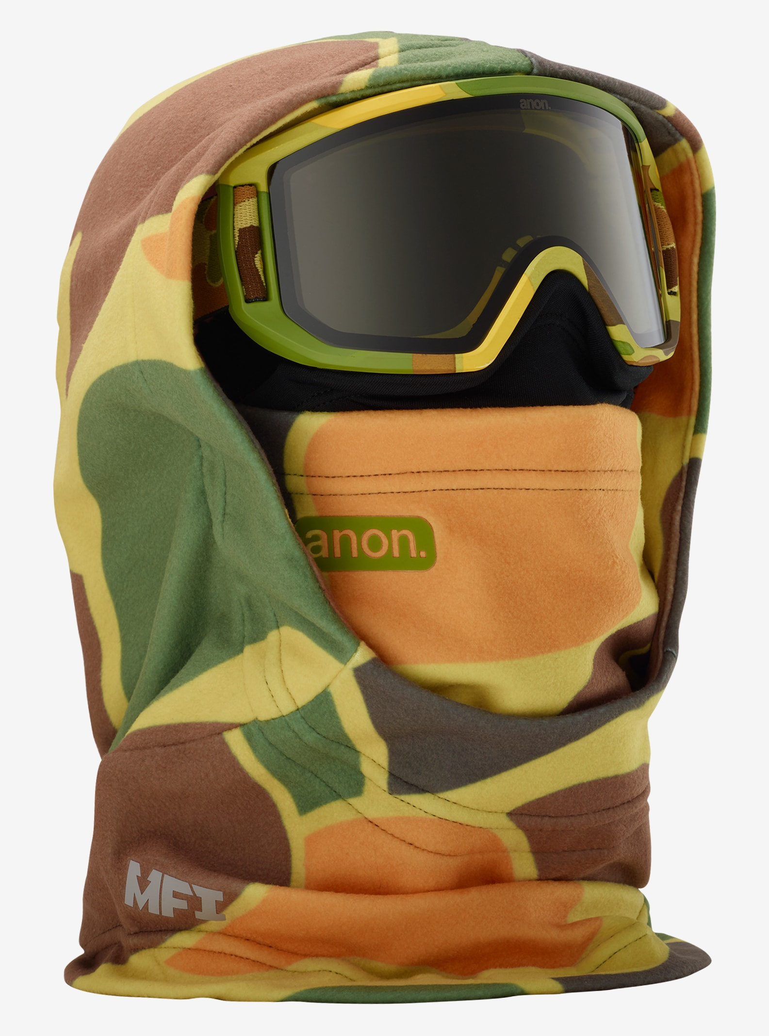 Kids' Anon MFI Hooded Clava shown in Kamo Green