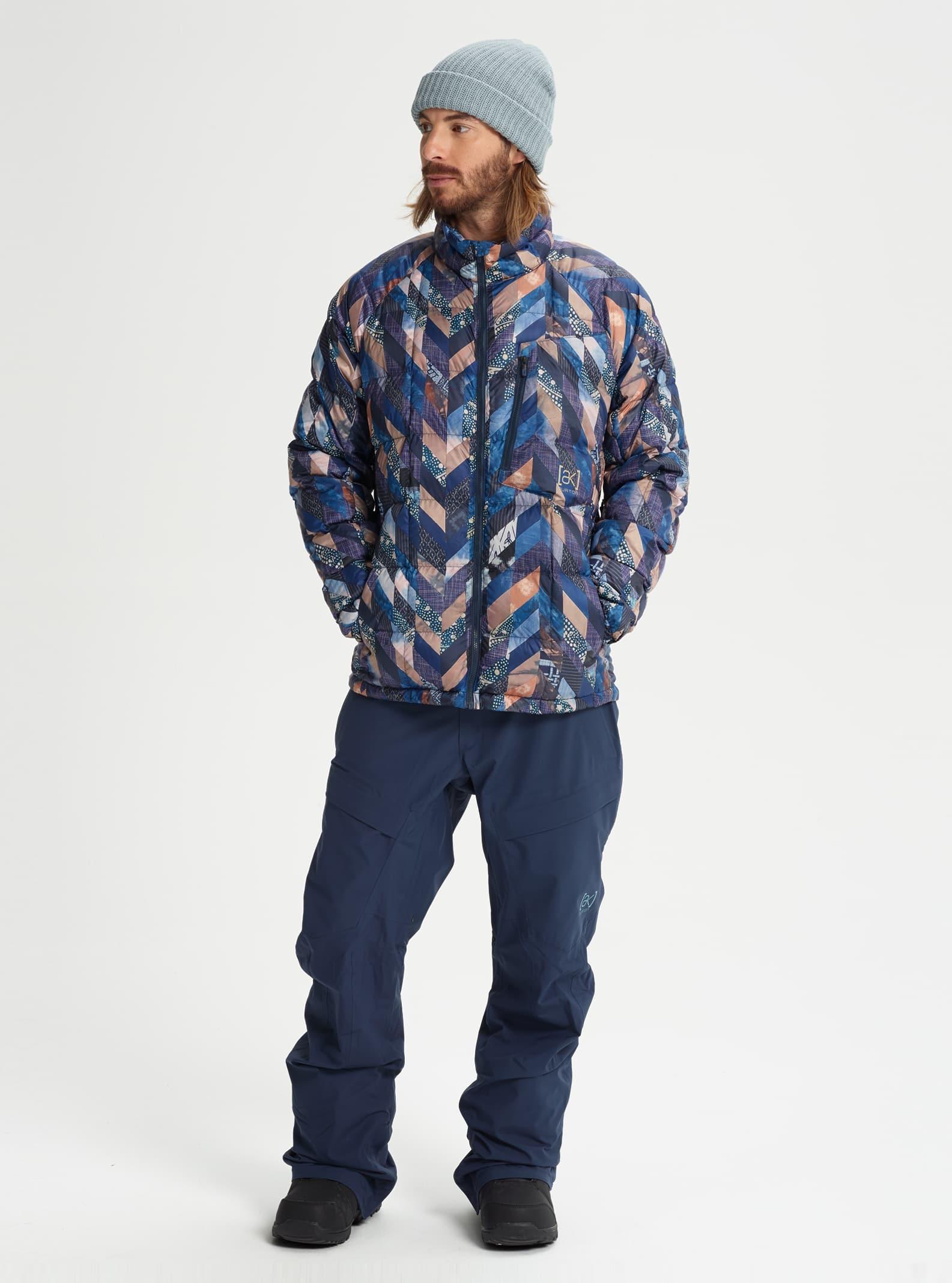 Mens Burton Ak Bk Down Jacket Winter 2019 Jake Fleece Combie Blue Grey