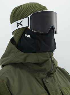 4b1d213863b Men s Anon M4 Cylindrical Goggle + Spare Lens + MFI Face Mask shown in Frame