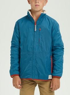 704b1eb8e Boys' Burton Snooktwo Reversible Fleece Jacket shown in Celestial / Bone  White