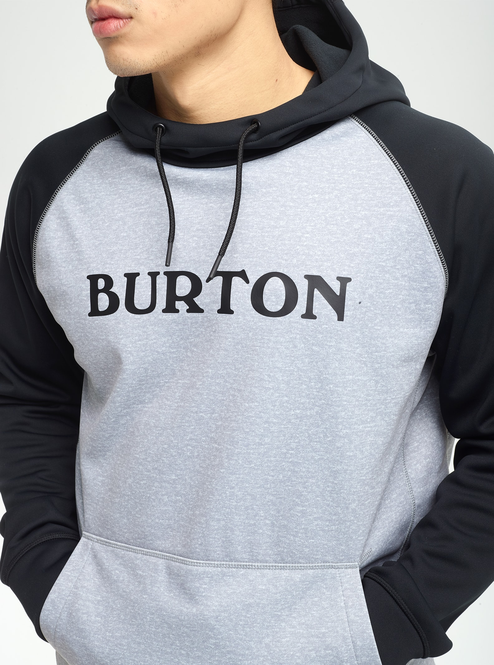 Brand New Mens Burton Crown Bonded Pullover Hoodie Worn Camo True Black