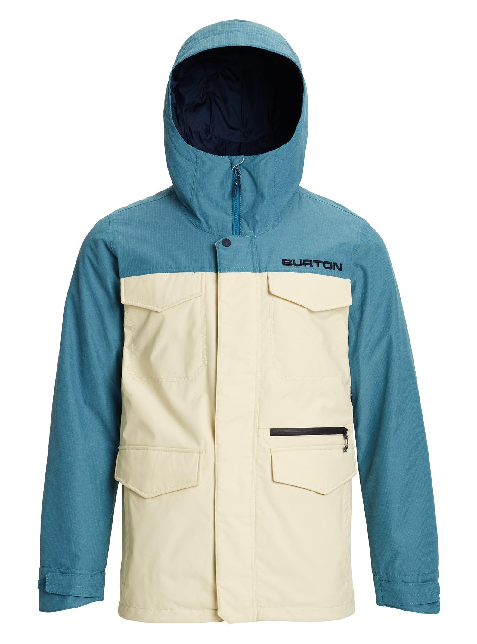 Burton Covert-jacka för herrar, Almond Milk / Storm Blue Ripstop, XL