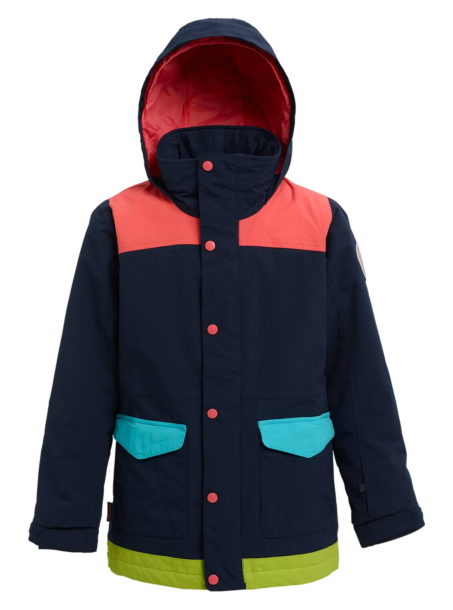 Burton Elstar-jacka för flickor, Dress Blue Multi, XS