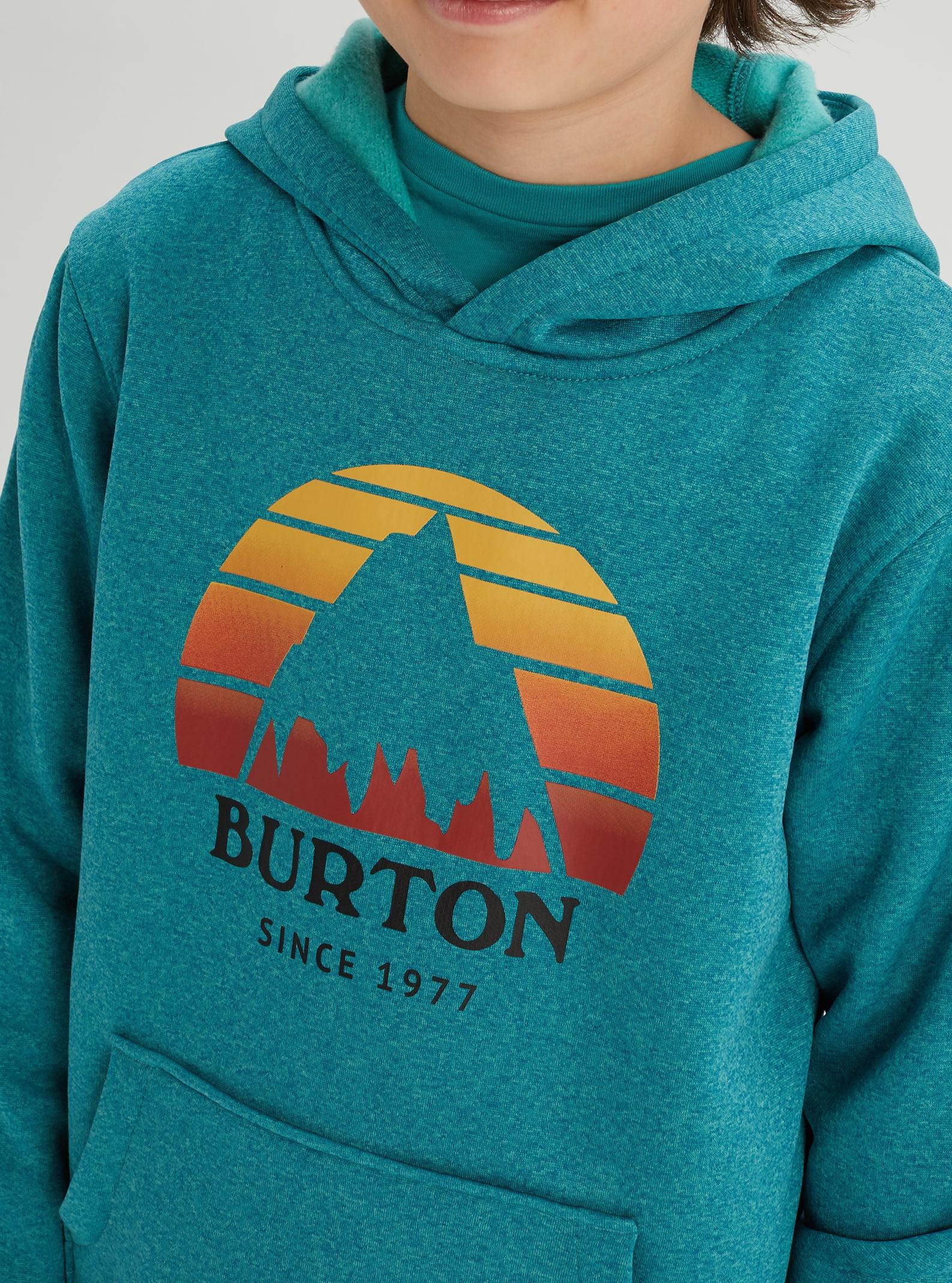 Green//Blue Slate Heather Burton Kids Oak Tech Fleece Medium