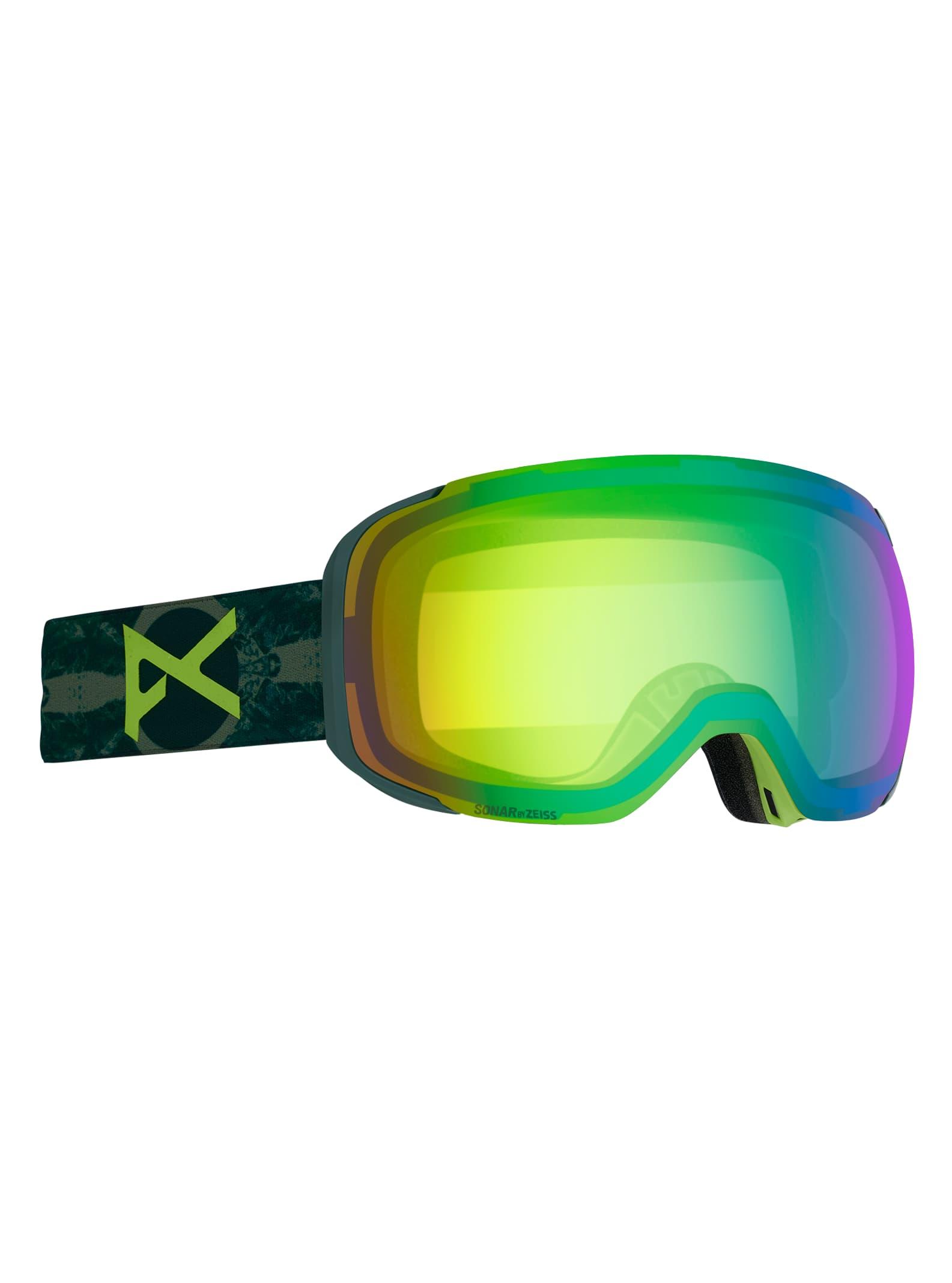 Anon Men's M2 Goggle + Spare Lens, Frame: Deer Mountain, Lens: SONAR Green, Spare Lens: SONAR Smoke