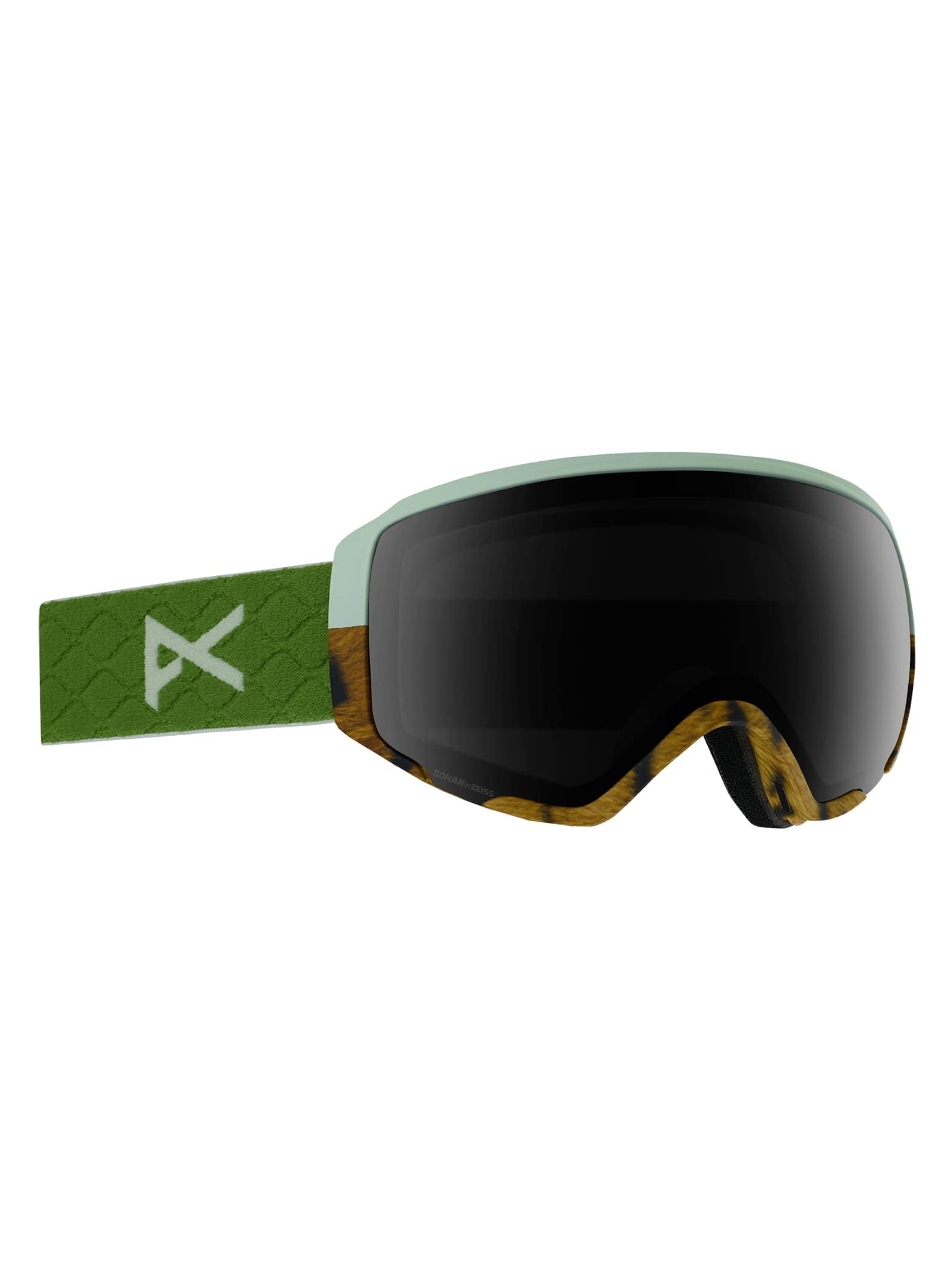 Anon WM1 skidglasögon + reservlins för damer, Frame: Tiger, Lens: SONAR Smoke, Spare Lens: SONAR Green
