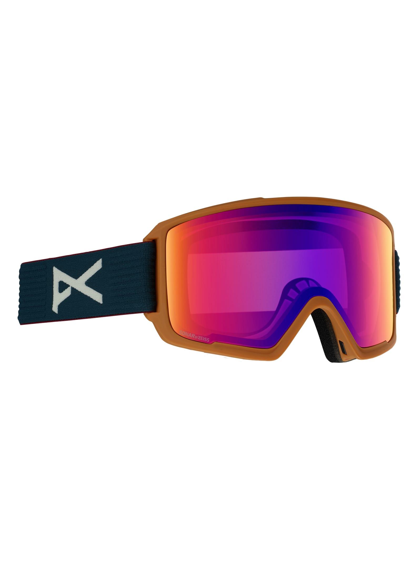 Anon Men's M3 Goggle + Spare Lens, Frame: DOA, Lens: SONAR Infrared Blue, Spare Lens: SONAR Bronze