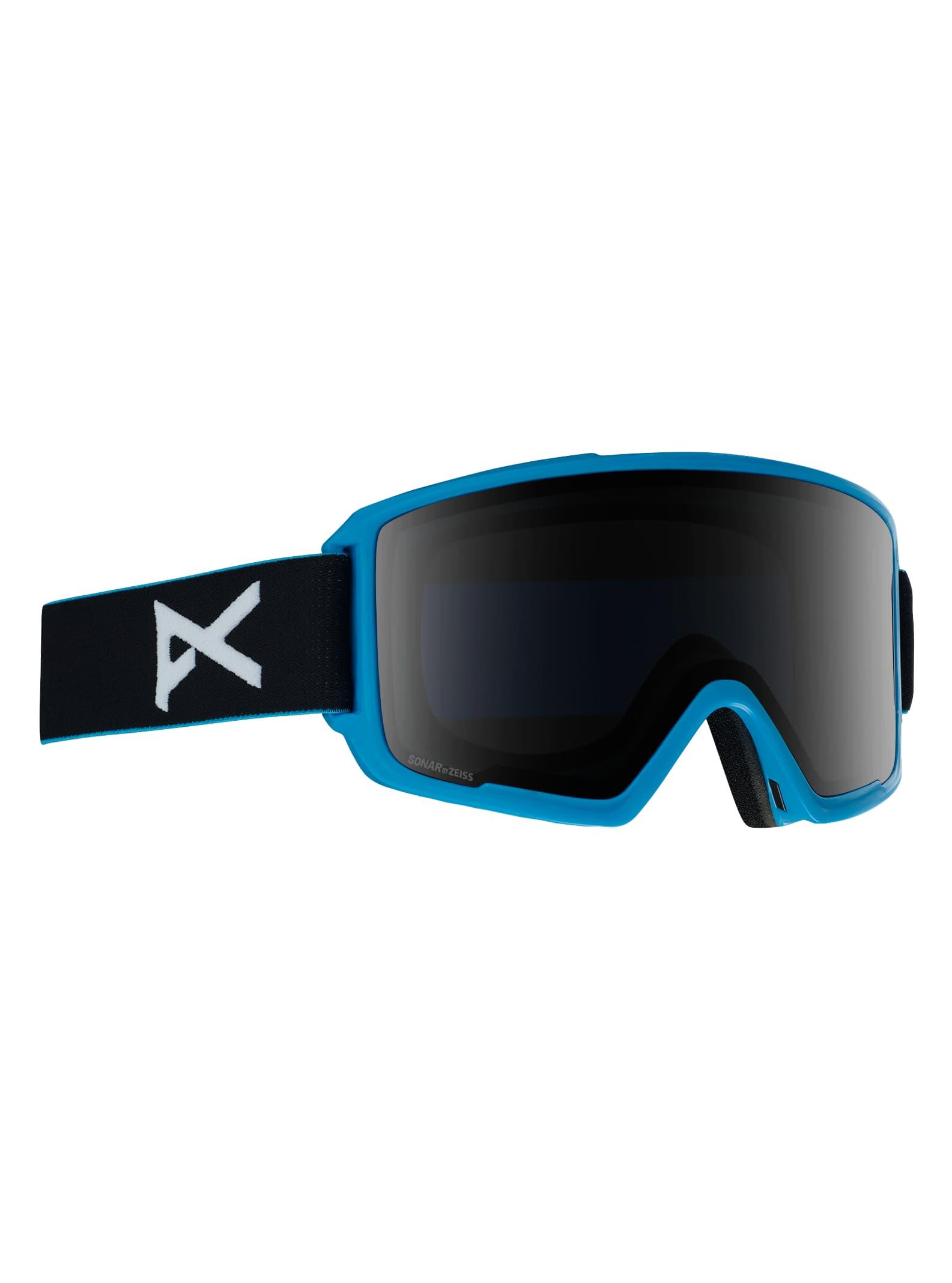 Anon Men's M3 Goggle + Spare Lens, Frame: Blue, Lens: SONAR Smoke, Spare Lens: SONAR Blue