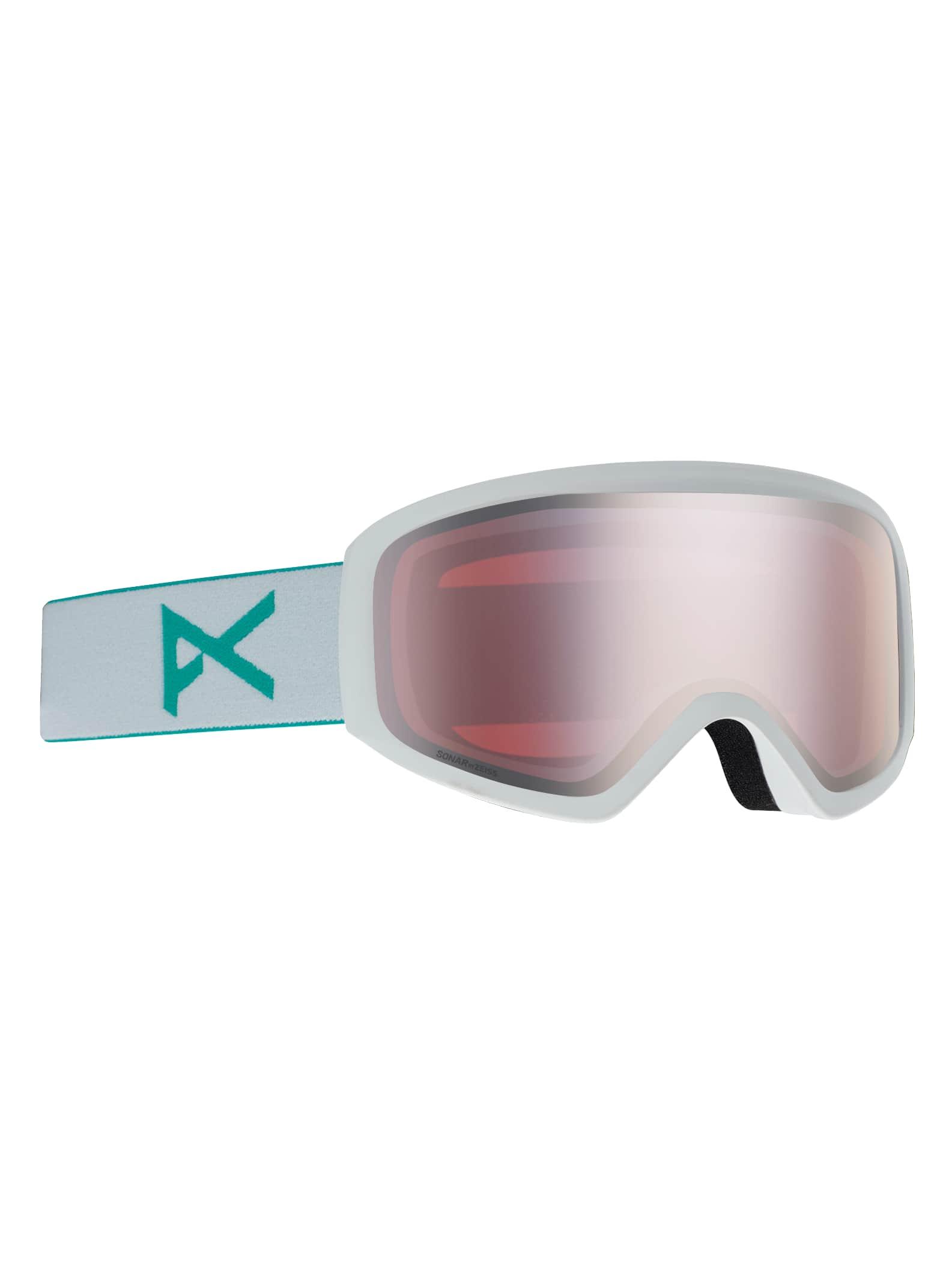 Anon Insight Sonar skidglasögon + reservlins för damer, Frame: White, Lens: SONAR Silver, Spare Lens: Amber