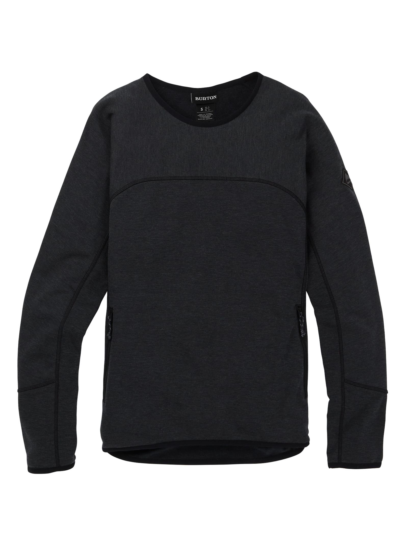 Burton Minturn tröja med rund ringning för damer, True Black, XS