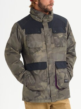 Men's Burton Falldrop Jacket shown in Worn Camo