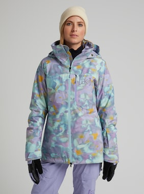 Women's Burton [ak] GORE‑TEX 2L Embark Jacket shown in Aura Camo