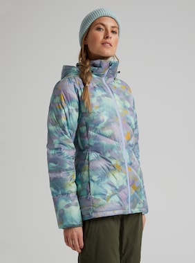 Women's Burton [ak] Baker Down Jacket shown in Aura Camo