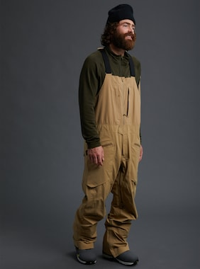 Men's Burton [ak] GORE‑TEX 3L Freebird Stretch Bib Pant shown in Kelp