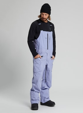 Men's Burton [ak] GORE‑TEX 3L Freebird Stretch Bib Pant shown in Foxglove Violet