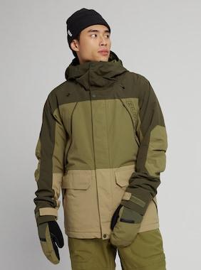 Men's Burton Breach Insulated Jacket shown in Forest Night / Martini Olive / Kelp