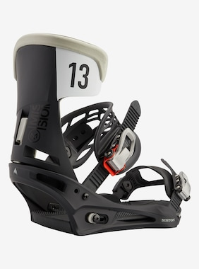 Men's Burton Mission Re:Flex Snowboard Binding shown in Black / Gray Wing