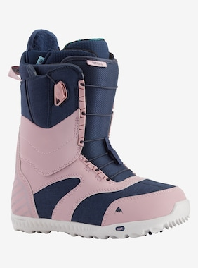 Women's Burton Ritual Snowboard Boot shown in Dusty Rose / Blue