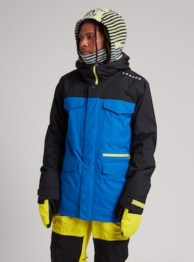 Men's Burton Covert Jacket shown in True Black / Lapis Blue