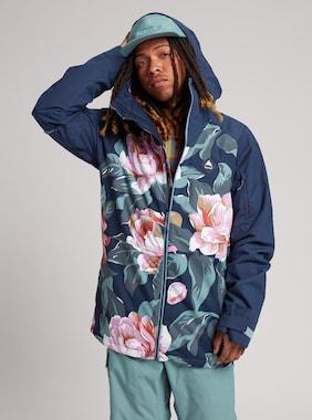 Men's Burton Hilltop Jacket shown in Dark Slate Oversized Floral / Dress Blue