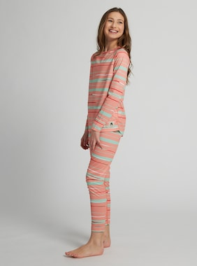 Kids' Burton Lightweight Base Layer Set shown in Pink Dahlia Scribble