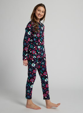 Kids' Burton Fleece Base Layer Set shown in Flower Power