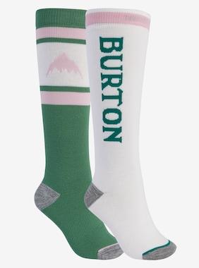 ウィメンズ Burton ウィークエンド ミッドウェイト ソックス 2足パック 画像のアイテムはFrosty Spruce / Stout White