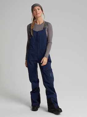 Women's Burton [ak] GORE‑TEX 3L Kimmy Stretch Bib Pant shown in Dress Blue