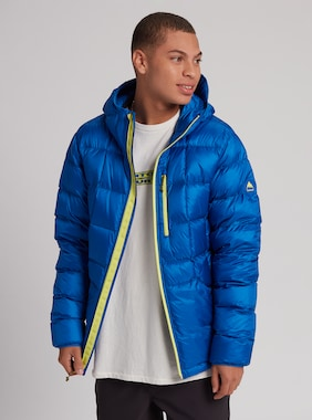 Men's Burton Evergreen Hooded Down Jacket shown in Lapis Blue