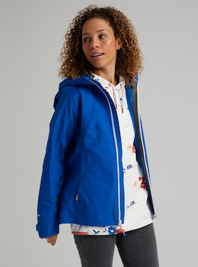 Women's Burton GORE-TEX Packrite Rain Jacket shown in Lapis Blue