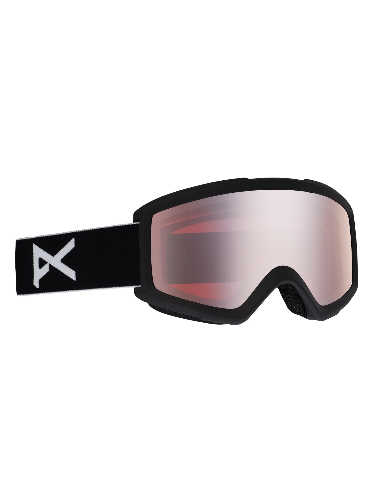 Anon Helix för herrar 2,0 skidglasögon + reservlins, Frame: Black, Lens: Silver Amber, Spare Lens: Amber