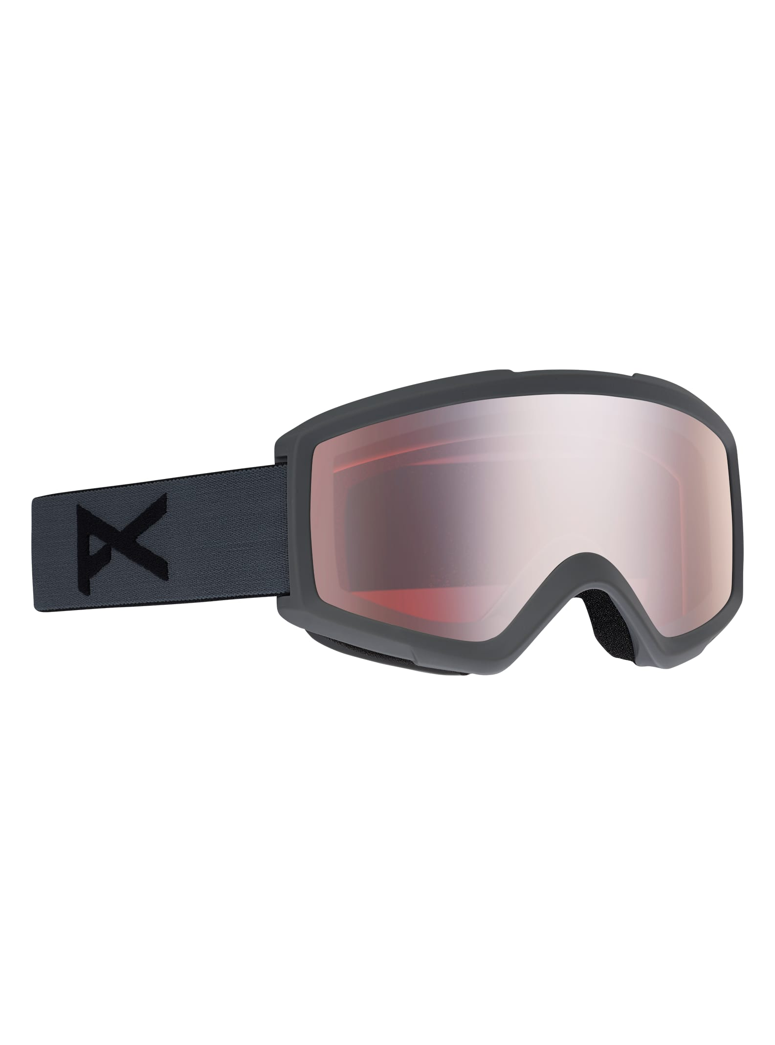 Anon Helix för herrar 2,0 skidglasögon + reservlins, Frame: Stealth, Lens: Silver Amber, Spare Lens: Amber