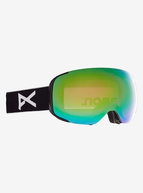 Men's Anon M2 Goggle + Bonus Lens shown in Frame: Black, Lens: PERCEIVE Variable Green (22% / S2), Spare Lens: PERCEIVE Cloudy Pink (53% / S1)