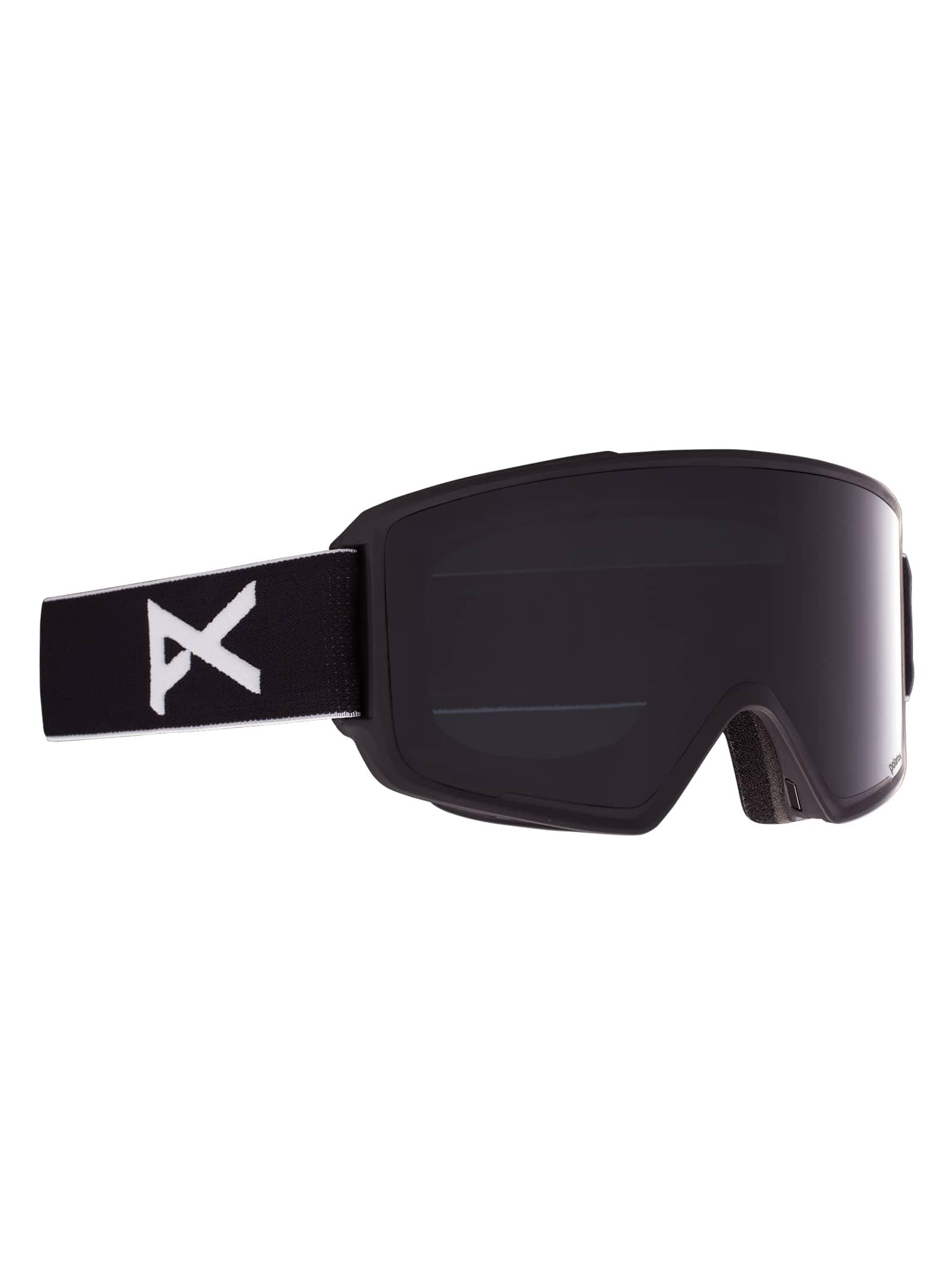 Anon M3 polariserade skidglasögon för herrar + reservlins, Frame: Black, Lens: Polar Smoke, Spare Lens: Blue Lagoon